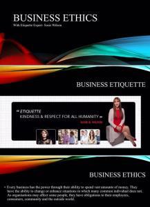 Susie Wilson, Australia's Leading Etiquette Expert
